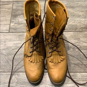 Justin Roper Lace Up Boots